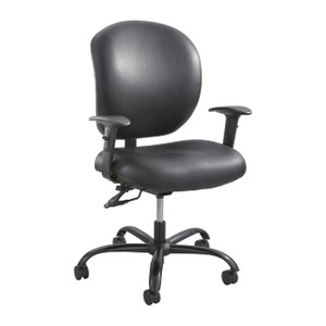 Black Vinyl Alday™ 24/7 Task Chair With Adjustable Height/Width T