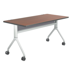 "Rumba™ Nesting Table Biltmore Cherry, Metallic Gray Legs 60"" x 30"""