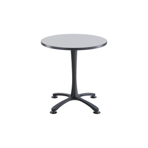 Cha-Cha™ Sitting Height Table, Fashion Gray with Black Leg Finish