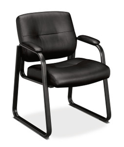 Hon Leather Sled Base Guest Chair