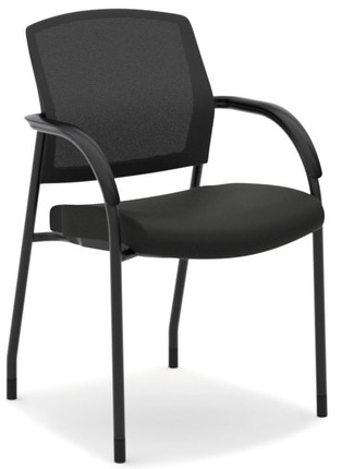 Hon Lota Mesh Back Multi Purpose Stacking Chair With Black Fabric