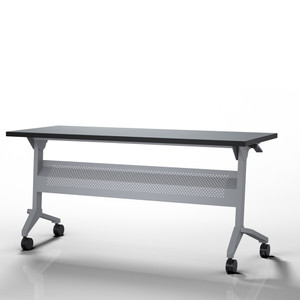 Flip-N-Go Training Table, Folkstone with Silver Leg Finish