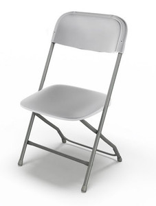 Folding Event Chair, Wedding White