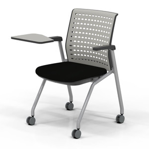 Thesis™ Stacking Chair with optional arms and writing tablet