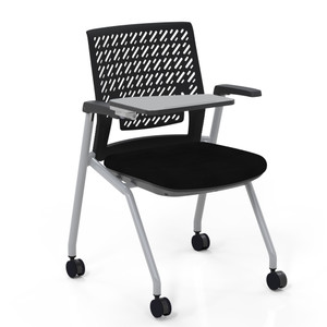 Thesis™ Flex Back Stacking Chair with arms and tablet