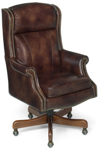Premium leather with decorative upholstery nails