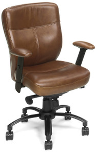 Select supple leather in Seal brown