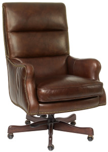 Premium leather in Coffee with tufted pillow back