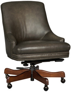 Hereford Tilting Swivel, Quality leather in Smoke Grey NOW available