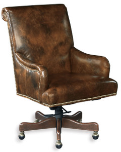Quality leather with upholstery nails and piping
