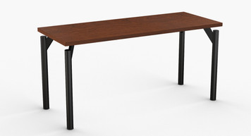 "Reveal Hospitality Table in Cherry with Standard Black Leg Finish 24"" x 60"""