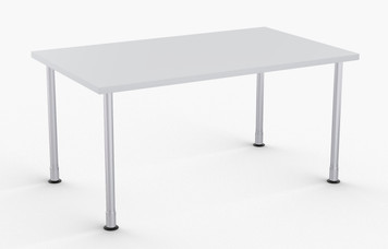 "Robot Training Table in Grey, 30"" x 60"" with Optional Metallic Silver Leg Finish and Glides"