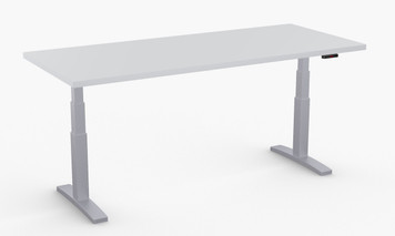 "ValuLift Basic Table in Grey with Silver Legs 30"" x 72"""