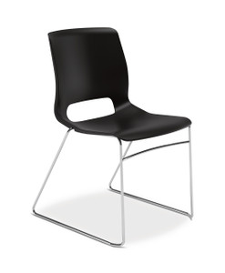 Hon Motivate High-Density Stacking Chair in Onyx