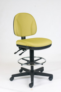 Basic Independent Drafting Stool in Chlorine