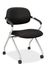 basyx by Hon Nesting Fabric Chair in Silver Frame