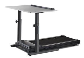 TR1200-DT5 Treadmill Desk, charcoal frame with grey desktop