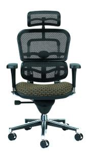 ergohuman upholstered mesh high back executive circuit fabric in domino - Ergohuman