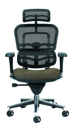 Ergohuman Upholstered Mesh High Back Executive Circuit Fabric In Domino
