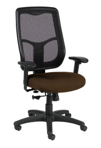 Apollo Ratchet Back Upholstered Executive Task Chair, Canyon Fabric in Mudslide