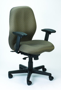Aviator Upholstered Synchro-Tilt Task Chair, Tangent fabric in Roulette