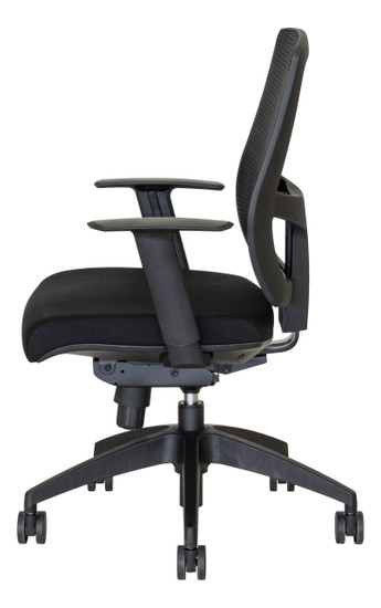 valo coco mesh task chair side view