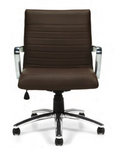 Mid-Back Luxhide Executive in dark brown luxhide