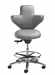 Surgeon Console Stool in Canter Vinyl Storm