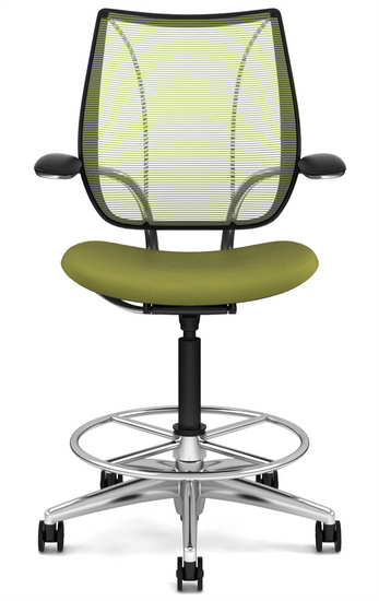 Liberty Drafting Stool with Pinstripe Citron Mesh and Wave Sage ...  sc 1 st  Office Chairs Usa & Humanscale Liberty Drafting Stool | OfficeChairsUSA
