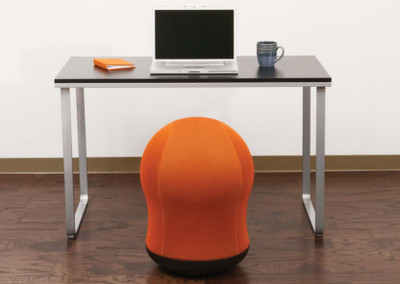 zenergy swivel ball chair in orange