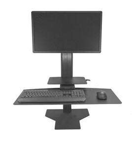 Sit2Stand Work Station Single Monitor, black
