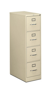 Hon 510 Series Four Drawer Vertical File, letter width in Putty (L)