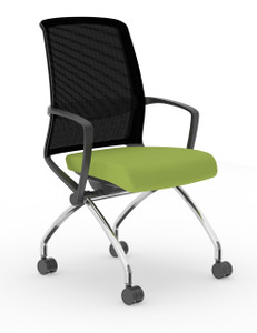 Tizu Nesting Chair, Black frame with Wasabi Seat