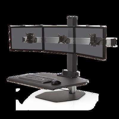 Triple monitor Black