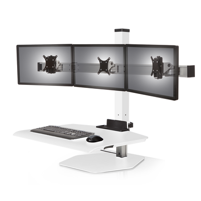 Triple monitor White