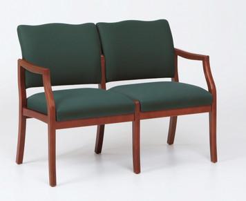 Franklin Wood 2 Seat Sofa