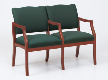 Franklin Wood 2 Seat Sofa with Center Arm