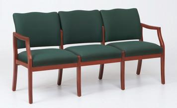 Franklin Wood 3 Seat Sofa