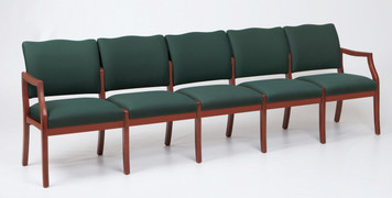 Franklin Wood 5 Seat Sofa