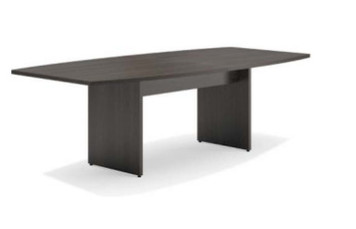 8' Laminate Modular Conference Table - 2 Boat Shaped Ends