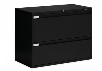 2 Drawer Lateral File in Black, 36""