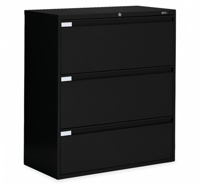 3 Drawer Lateral File In Black, 36