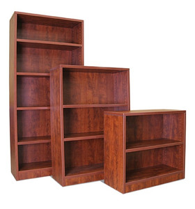 "30"", 48"", 71""H Bookcases in Dark Cherry"