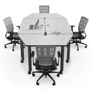 Modular Conference Tables Modular Meeting Room Tables - Gray conference table
