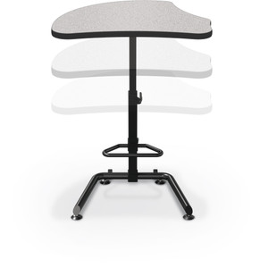 Up-Rite Harmony Sit-Stand Desk in Gray Nebula