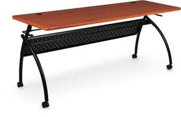 Chi Flipper Training Table with PVC Cherry Wood Grain Finish