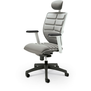 Renew Executive Chair with standard Gray back, seat and headrest