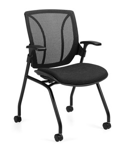 Delicieux Global Roma Medium Mesh Back Nesting Armchair