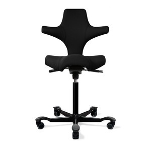 HAG Capisco H8106 Saddle Seat w/ Back in Black Seat Black Base