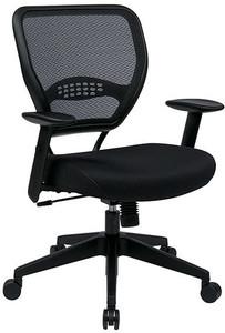 Seat Slider is Standard. Black Leatherette Seat.
